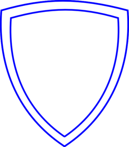 Shield clipart blue Shield Outline  Art at