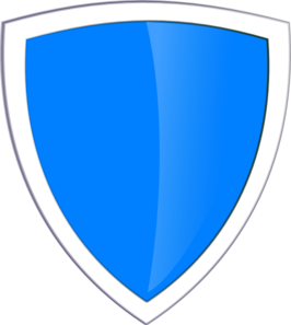 Shield clipart blue Shield vector art online com