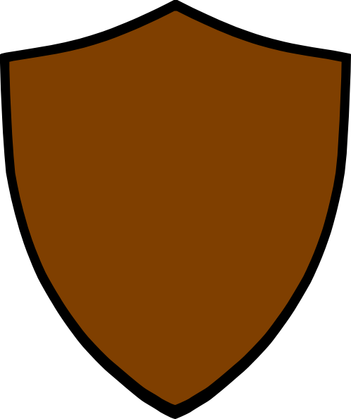 Brown clipart shield Download image com brown Shield