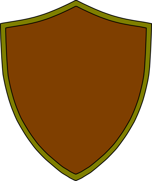 Brown clipart shield Download  image at gold