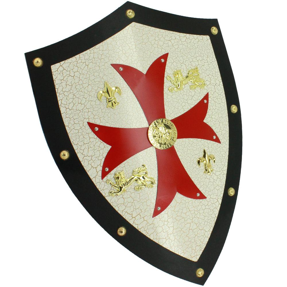 Shield clipart crusader shield Red Cross SwordsAxe Metal Medieval