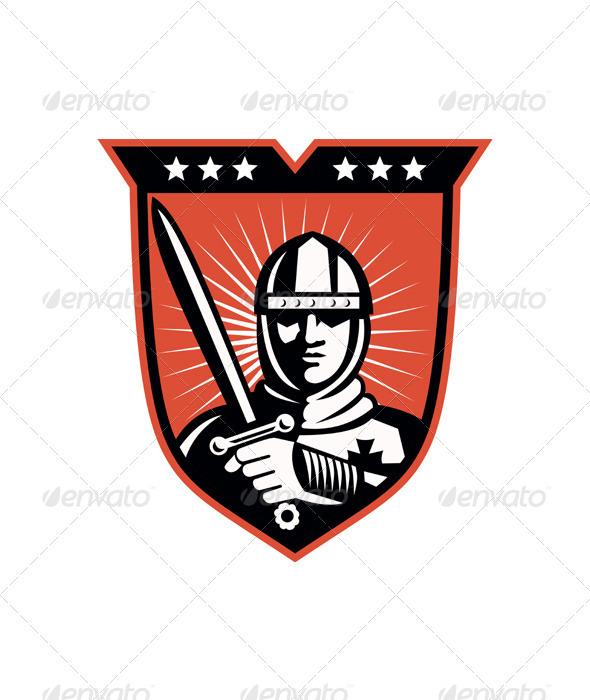 Shield clipart crusader shield Crusader With Sword man Male