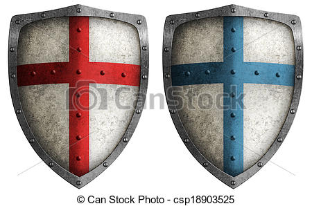 Shield clipart crusader shield Isolated on  isolated white