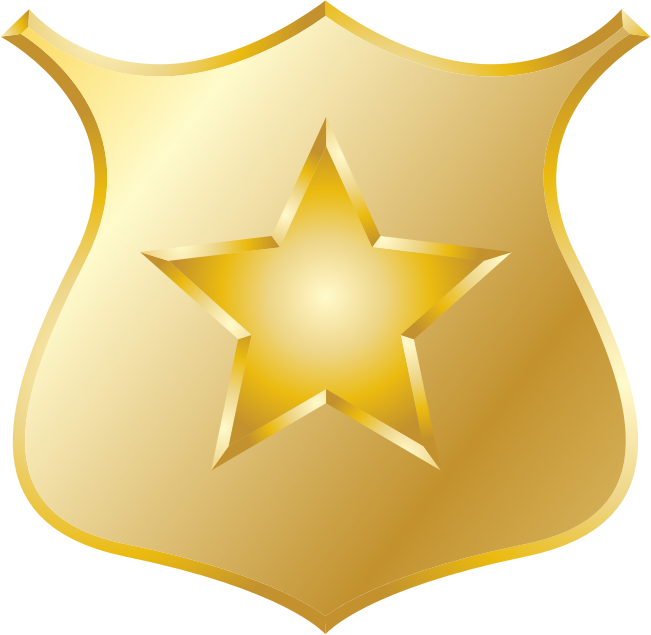 Shield clipart detective Gold Clipart police (PNG) badge