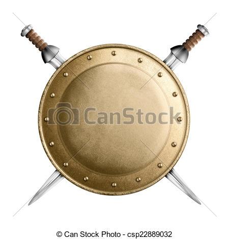 Shield clipart gladiator Or crossed  gladiator Stock