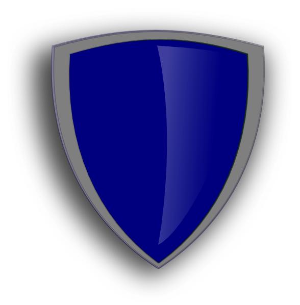 Shield clipart logo design  Blue art Download Blue