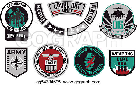 Shield clipart military badge EPS Vector Stock Emblem