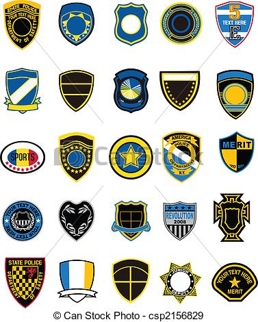 Shield clipart military badge In Illustration of style different