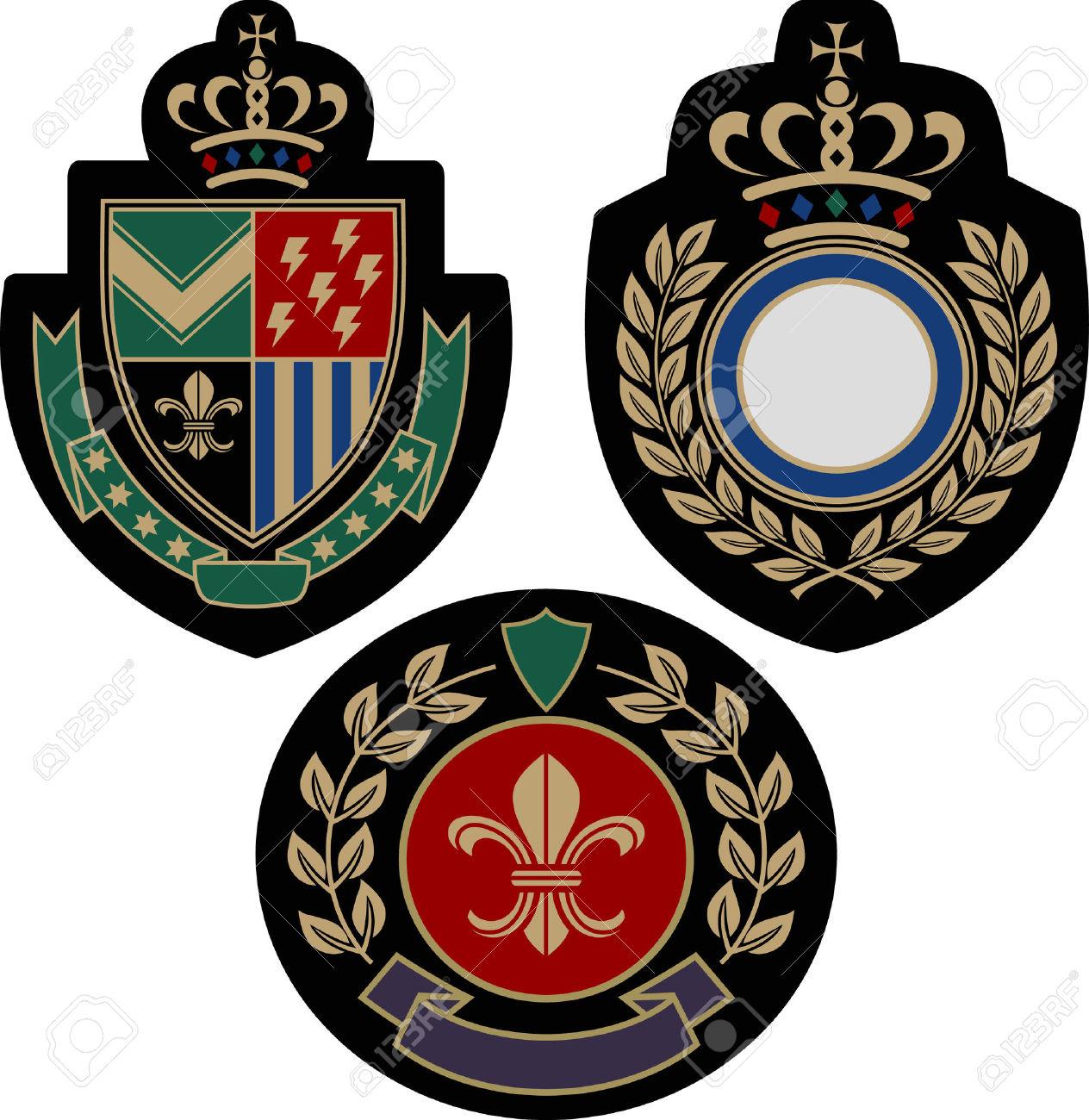 Shield clipart military badge Badge Insigina Cliparts Royalty Shield