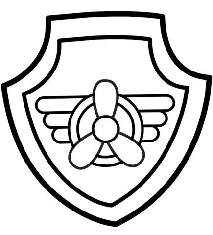 Shield clipart paw patrol Best page badge Skye's patrol