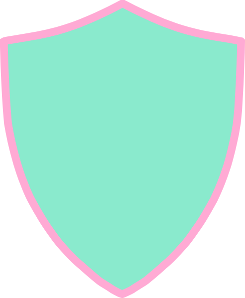 Shield clipart pink Image Shield com art Aqua