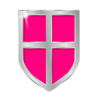 Shield clipart pink Clip art clip shield Polyvore