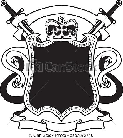 Shield clipart royal crest Crest  Royal Blank Clipart