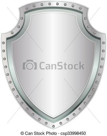 Shield clipart steel shield Empty steel badge Metal steel