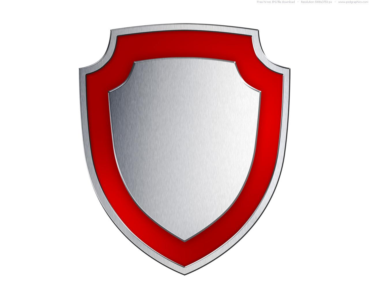 Shield clipart steel shield Gold metal PSDGraphics shield Silver