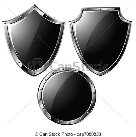 Shield clipart steel shield Isolated on shields steel of