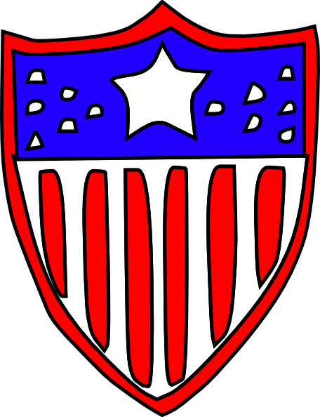 Shield clipart usa As: image art Badge Clker