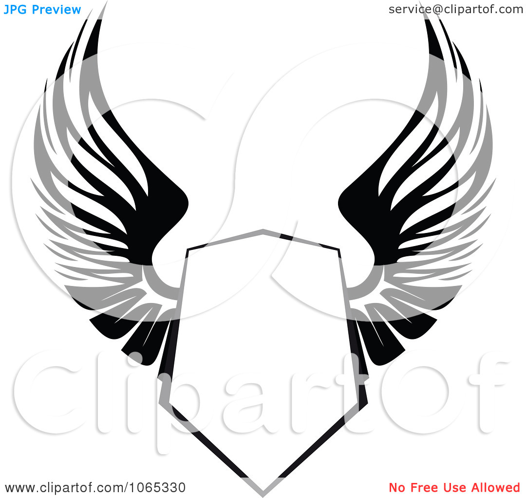 Shield clipart winged Clipart clip wings art art