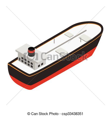 Boat clipart tanker Oil csp33438351  3d Oil