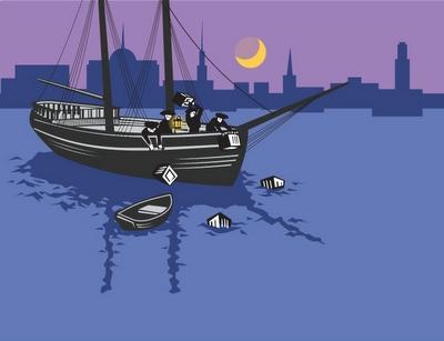 Boat clipart boston tea party / download boston 400x307 massacre