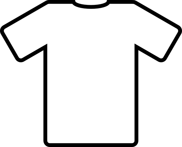 Shirt clipart vector t Art Shirt in White clip
