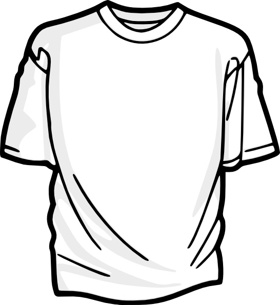 Shirt clipart vector t Art Shirt in Blank clip