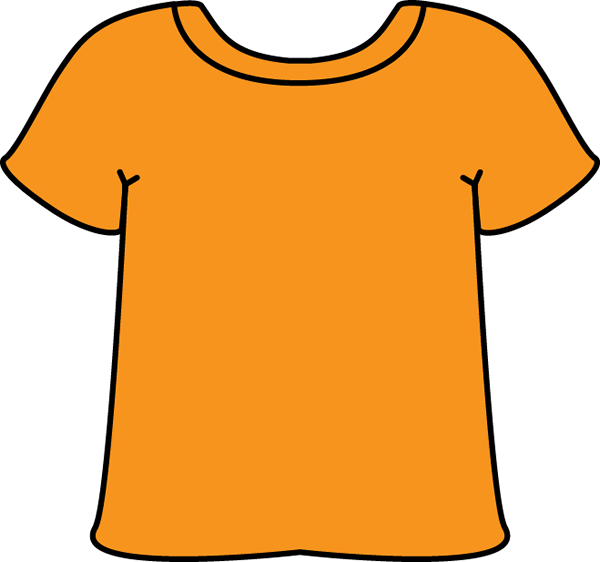 Shirt clipart clean shirt Art Orange T Clip Shirt