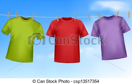 Shirt clipart clothesline On of shirts  hanging
