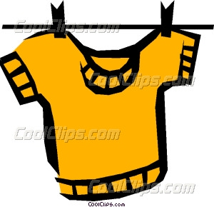 Shirt clipart clothesline On on Shirt hanging Clip