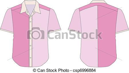 Shirt clipart collar shirt In Pink Vector  of
