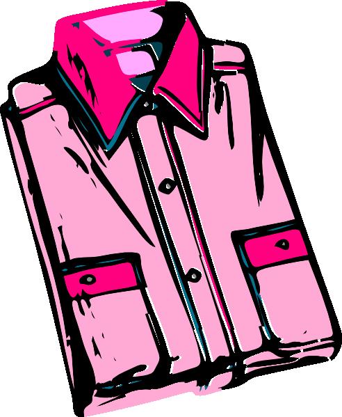 Shirt clipart folded shirt Pink  Art Pink Folded