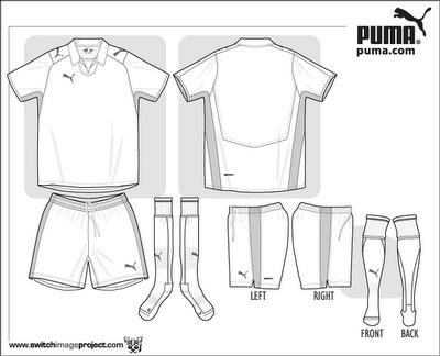 Shirt clipart football kit Collection Art Template Printable Kit
