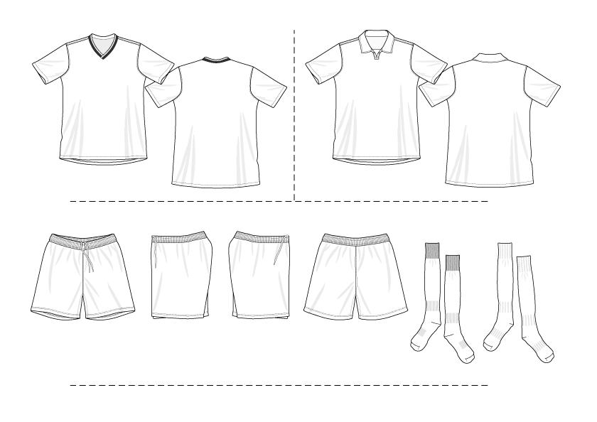 Shirt clipart football kit Jersey kits printable shirt