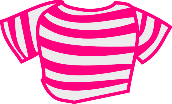 Shirt clipart pink shirt Clip clip Shirt  Striped
