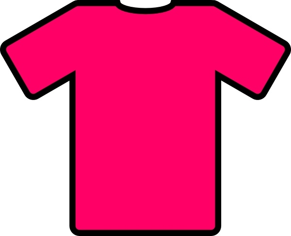 Shirt clipart pink shirt Shirt  Open T svg