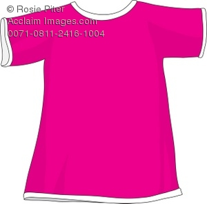 Shirt clipart pink shirt Pink T of Hot Pink
