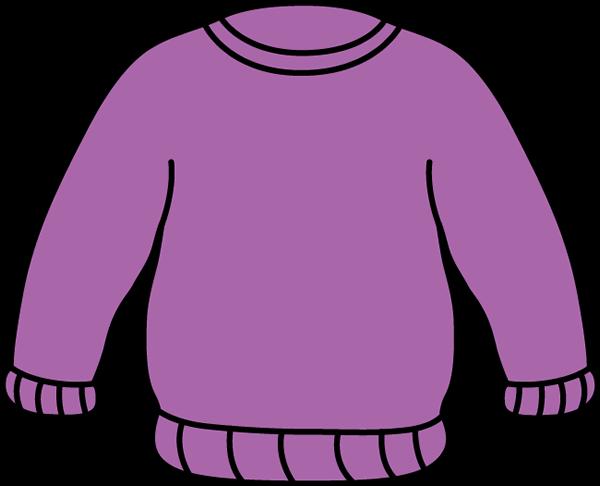 Shirt clipart purple Sweater Sweater Sweater Art Clip