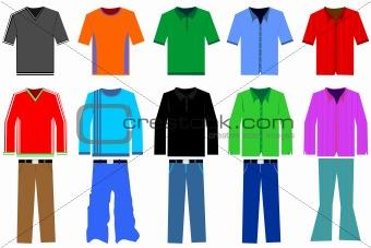 Shirt clipart shirt pants Image illustration clothes 3493723: Stock