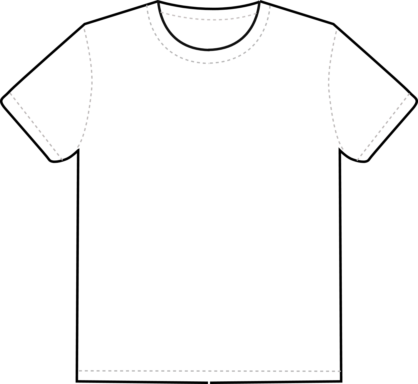 Shirt clipart vector t Library Outline Free Tee Clipart