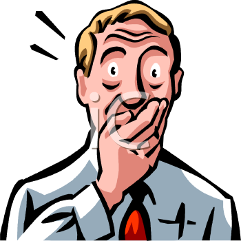 Shocking clipart Expression of Shocked Free people