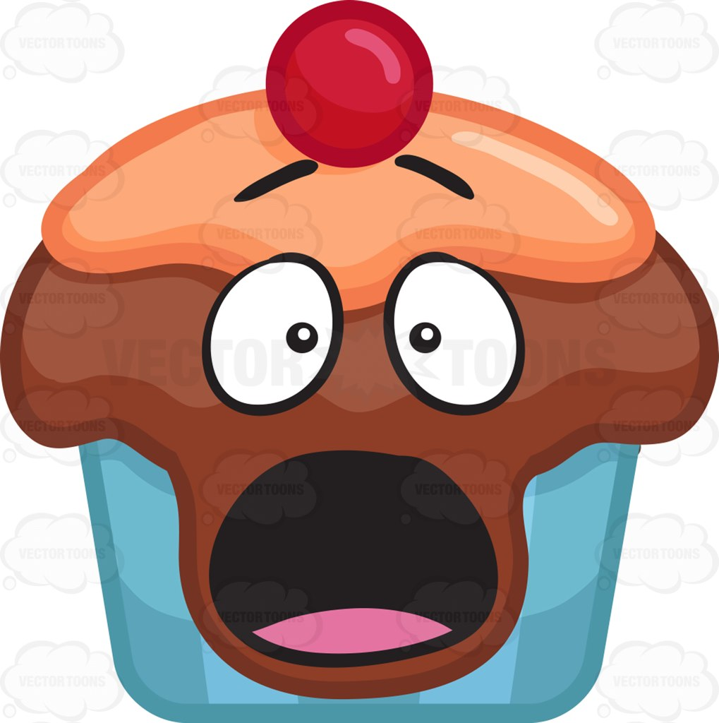 Shocking clipart aghast #cartoon Cupcake Cupcake and #vector