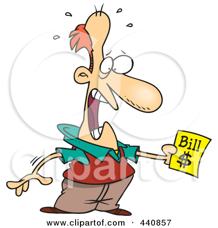 Shocking clipart bill payment Shocked A Holding RF 440857