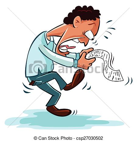 Shocking clipart bill payment With report or shocked businessman
