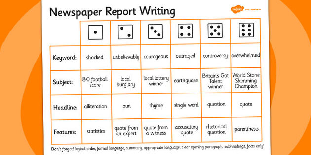 Shocking clipart newspaper report Report Newspaper Writing template writing