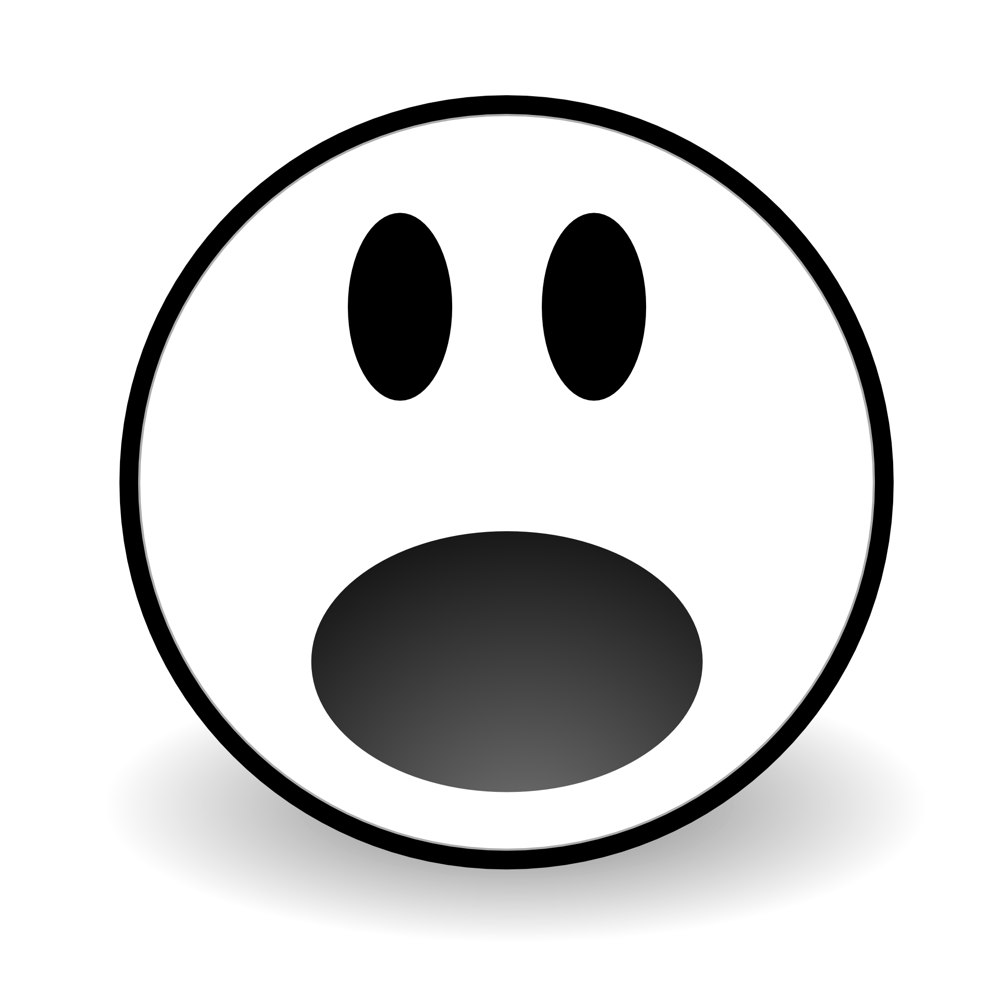 Shocking clipart scared face Hunky png Line 1979px Art