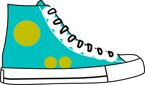 Shoe clipart White And  tennis%20shoes%20clipart%20black%20and%20white Clipart
