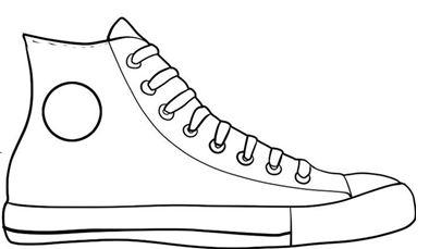 Converse clipart black and white Clipart Shoe shoe%20clipart Free Clipart