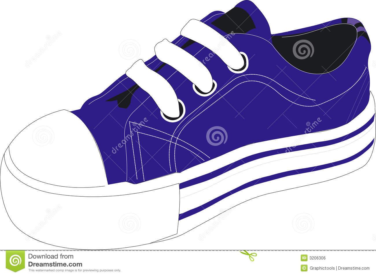 Shoe clipart blue Blue Shoe Clipart Tennis