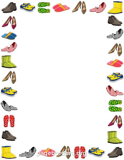 Shoe clipart border Border: Clip Border Graphics Vector