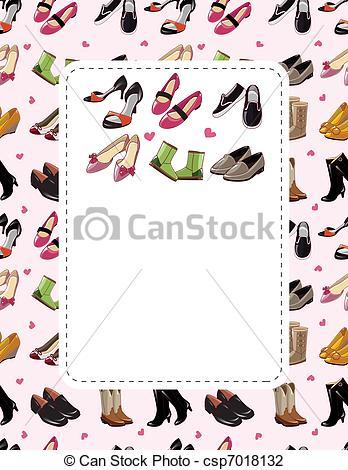 Shoe clipart border Sale shoe sale fashion Illustration